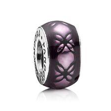 """Genuine Pandora Charm """"Purple Dew"""" Floral Vintage Spacer - 791034EN31 - retired"""
