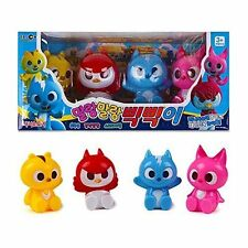 New Korean animated tv Series MINI FORCE Soft Toy 4Pcs  Animal Superhero Action