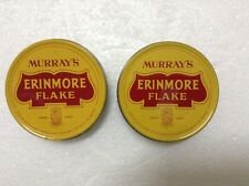 MURRAY'S ERINMORE FLAKE Pineapple Logo Pipe Tobacco Tin Container x 2pcs  #1