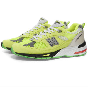 New Balance 911 x Aries W991AFL Made In England - Neon Yellow/Silver Size 6.5 W