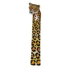 Bookmark Leather Cheetah Safari Animal Print African Art Handmade Book Mark