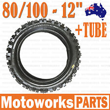 "80/100 - 12 3.00 - 12"" Inch Rear Knobby Tyre Tire + Tube PIT PRO Trail Dirt Bike"