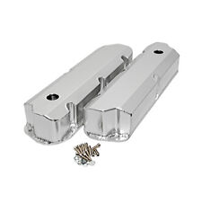 SBF Ford Polished Fabricated Aluminum Valve Covers - Short Bolt 289 302 351W