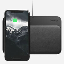 Nomad Base Wireless leather Pad Qi Charger Hub 2x10W - BLACK - NM30011A30