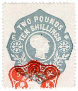 (I.B) Edward VII Revenue : General Duty Adhesive £2 10/- (die E)