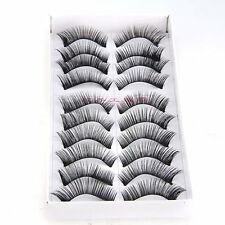 10 Pair Soft False Eyelash Eyelashes Eye Lashes Makeup Long Thick Brand New LWUS