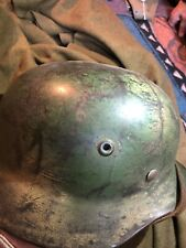 German Wwii Camo M40 Luftwaffe Helmet Navy Vet Bring Back From Utah Beach D Day