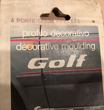 Vw Golfjetta Mk2 4 Doors Work For 2 Doors Red Moulding Trim Strip Nos Rare