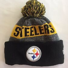 Pittsburgh Steelers Knit Beanie Cap Hat NFL 1Size Adult Pom Pom New Era Football
