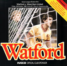 1983/84 Watford v West Ham United, Division 1, PERFECT CONDITION