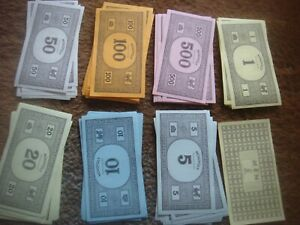 Monopoly 70/80's 80 Train Back Notes Bank Money Original Replacement Spares