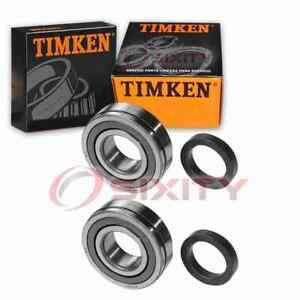 2 pc Timken Rear Wheel Bearings for 1957 Chevrolet Bel Air Axle Drivetrain cu