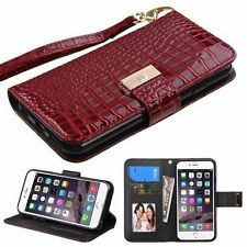 Synthetic Leather Card Pocket Mobile Phone Cases & Covers for iPhone 6s