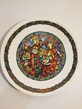 Darceau-Limoges Noel Vitrail-Stained Glass Christmas Plate #5 Adoration of Kings