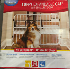 BRAND NEW Carlson Pet Products Tuffy Pressure Mount Expandable Gate W Small Door