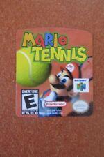 Nintendo 64 Mario Tennis N64 Cartridge Replacement Game Label Sticker