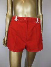 VINTAGE SHORTS RETRO RED HIGH WAIST PANTS SHORTS 1980s 1970s FESTIVAL 16 S M
