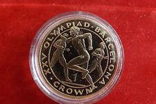 *Gibraltar 1 Crown 1992 PP(Vergoldet)*Olympia Barcelona 1992 (1) (BOX2)