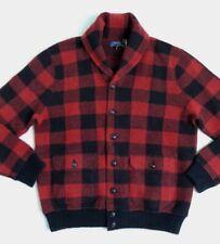$495 Polo Ralph Lauren Wool Buffalo Plaid Iconic Skeet Cardigan Shawl Jacket L