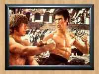 Bruce Lee Chuck Norris Way Dragon Signed Autographed A4 Photo Print Memorabilia