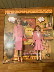 Barbie & Skipper Knitting Pretty Dream House Gift Set K7967 Gold Label NRFB