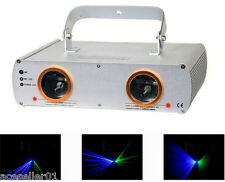 Blue+Green 2 lens Laser Lighting dual stage laser projector DMX DJ Disco Party
