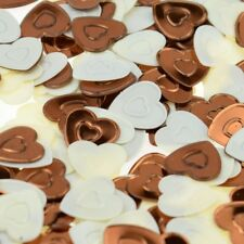 Pack of Cream & Brown Heart Confetti 14g pack - XMCC05