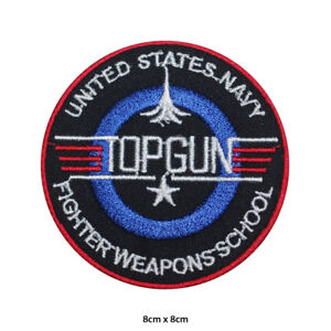 TOP GUN Video Game Logo Embroidered Patch Iron on Sew On Badge For Clothes etc