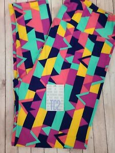 NEW LuLaRoe TC2 Leggings Bright Multi Color Geometric Super Cute!