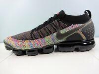 Nike Air Vapormax 2 Flyknit Running Shoes 942842 017 Black/Pink/Volt Men Size 13