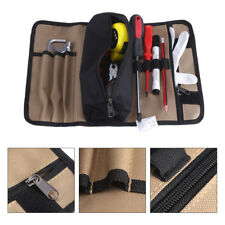 Waterproof Bag Canvas Electrician Roll Up Hardware Spanner Tool Bags Storage