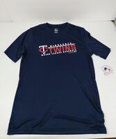 Minnesota Twins Youth T-Shirt Sz XL 18 Blue Majestic Polyester Short Sleeve New