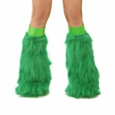 s TrYptiX Green Gogo Boot Leg Warmers Fluffies Emerald Green Band EDC