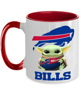 BILLS Coffee Mug, Pink Two Toned Buffalo BILLS Yoda Coffee Mug Gift