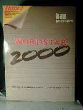 Vintage MicroPro WORDSTAR 2000 Plus Release 2 Word Processor on Floppy Disks