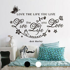 Modern Life Quote Word Art Vinyl Wall Sticker Decal Mural living room Decor new