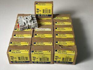 *LOT OF 19* NEW IN BOX Square D 8501NR51 8 Pin Relay Socket Ser. B