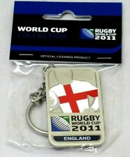 33652 RUGBY WORLD CUP 2011 ENGLAND SILVER JERSEY FLAG KEYRING KEY RING
