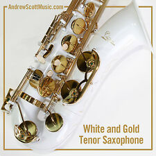 New White Tenor Saxophone in Case - Masterpiece