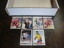 1992-93 Upper Deck Hockey---Complete Set---1-640---Kariya, Pronger RC's---NrMt