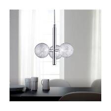 Wofi Pendelleuchte Verre 3-flg Chrom Glas Kugel Draht 60 Watt 1050 Lumen Lampe