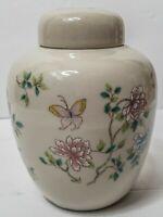 Vintage Cho Cho San Francisco Urn Spice Jar Takahashi Floral Butterflies Ginger