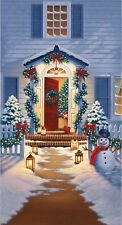 2.6 Yards Cotton Fabric - RJR Good Tidings Christmas Festive Holiday Open Door