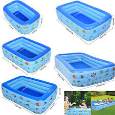 More details for large family swimming pool garden outdoor summer inflatable kids paddling pools