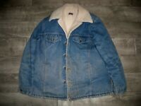 Vintage Big Mac JcPenney Men's Trucker Denim Sherpa Jean Jacket Size Large USA