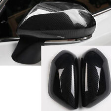 2018 For Toyota Camry Carbon Fiber Car Side Door Rearview Mirror Cover Trim 2pcs