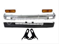 1995-1996 TOYOTA TACOMA 2WD FRONT BUMPER CHROME VALANCE SIGNAL LIGHT BRACKET 6PC