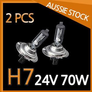 H7 Halogen Light Bulbs Headlight Globes 24V 70W Yellow Warm White TRUCK NEW 2PCS