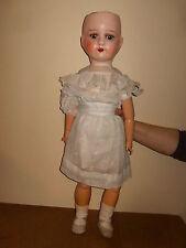Ancienne poupée / vintage MADE IN BELGIUM 72cm - bouche ouverte - corps articulé