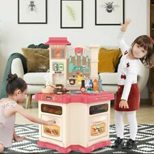 Kitchen Play Set For Kids Pretend Playset Baker Toy Cooking Toddler Girls & Boys